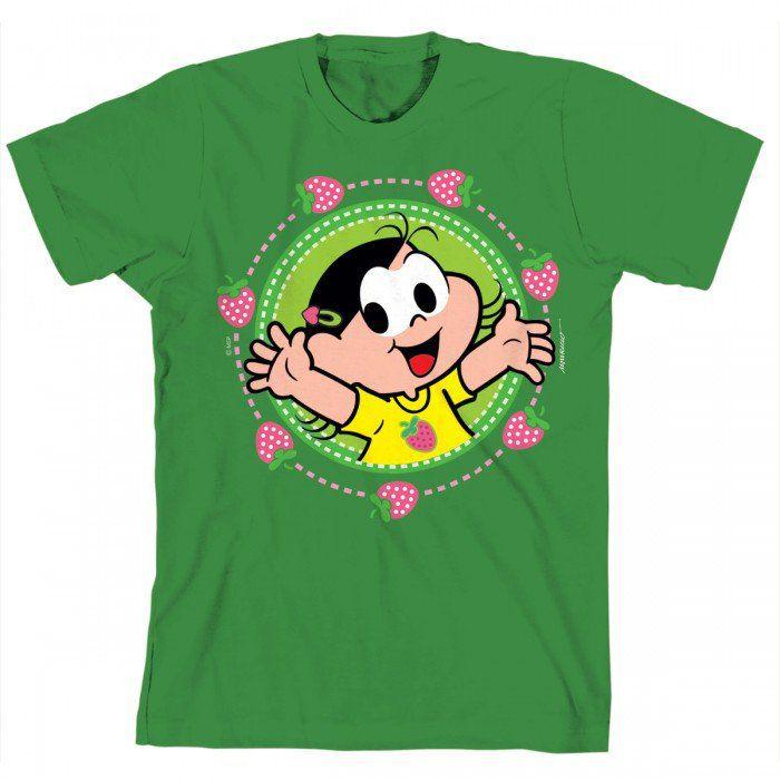 Camiseta Turma Da Mônica Kids Magali Frutas