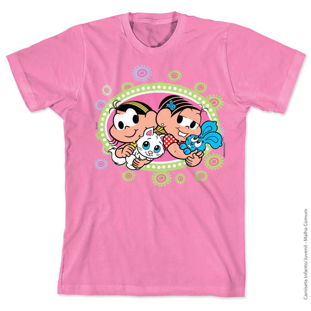 Camiseta Turma Da Mônica Kids Mônica e Magali Little Pet