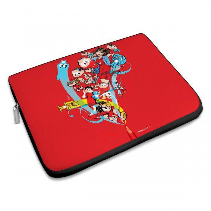 Capa Para Notebook Turma da Mônica 50 Anos - Modelo 1 Anos 2000