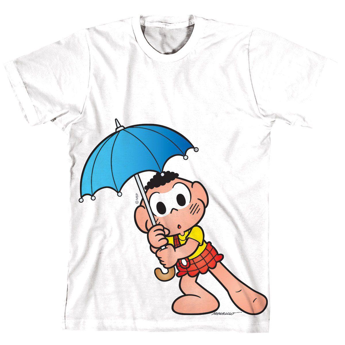 Camiseta Turma Da Mônica Kids Cascão Medo Da Chuva