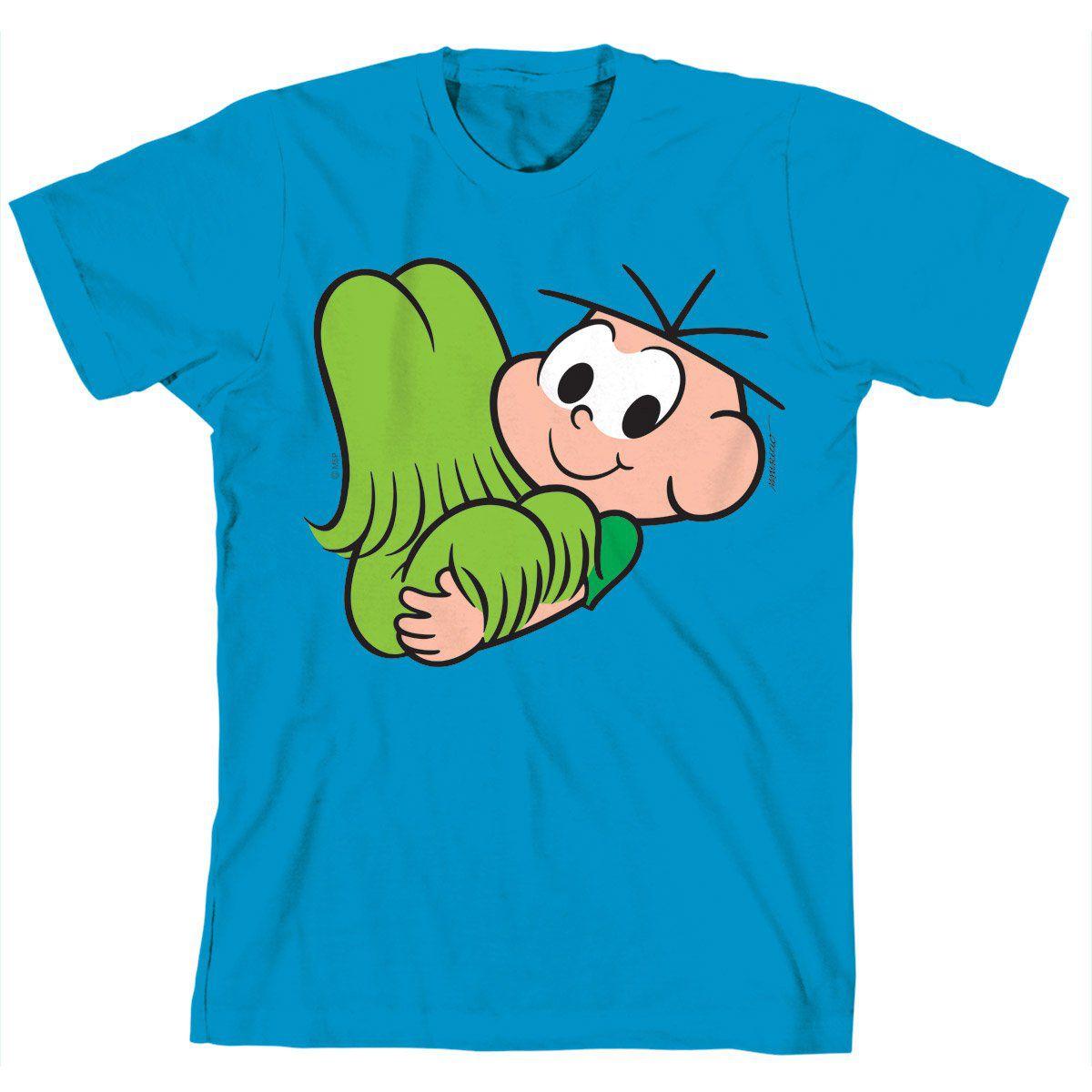 Camiseta Turma Da Mônica Kids Cebolinha e Floquinho
