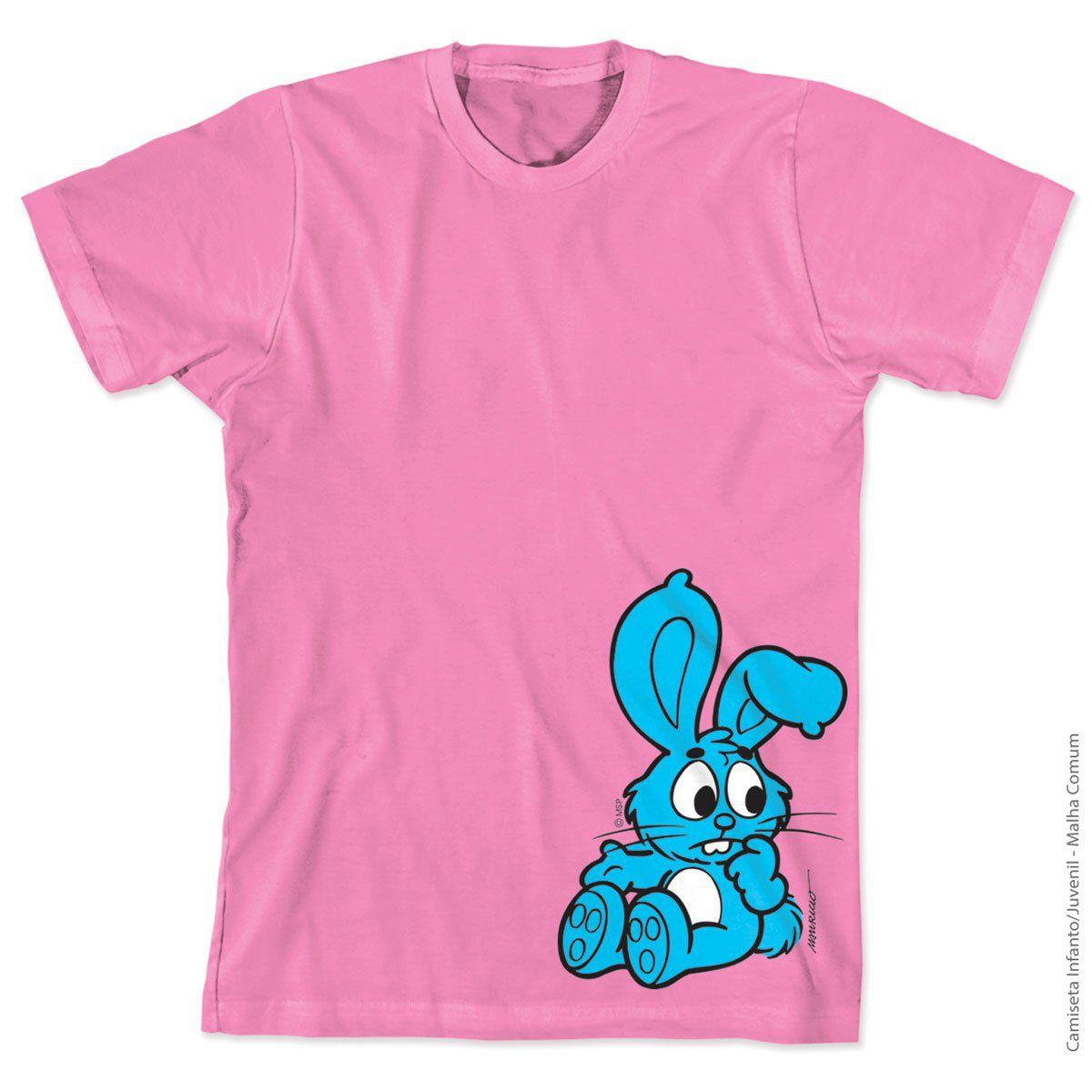 Camiseta Turma Da Mônica Kids Sansão Rosa