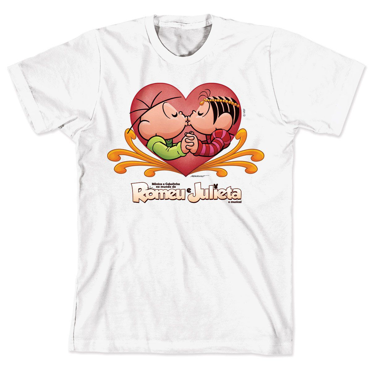 Camiseta Turma da Mônica - Mônica e Cebolinha no Mundo de Romeu e Julieta
