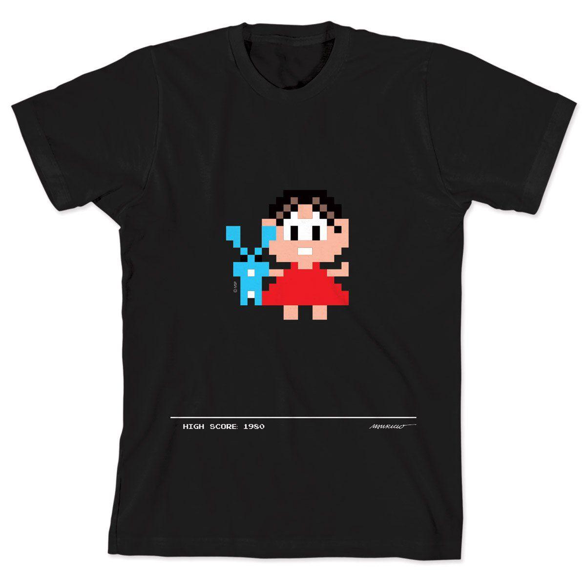 Camiseta Turma da Mônica 50 Anos Modelo 6 Anos 80 Preta