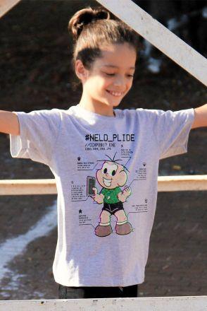 Camiseta Infantil Cebolinha Neld Plide