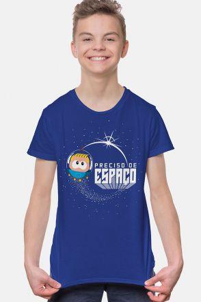 Camiseta Infantil Turma da Mônica Astronauta Preciso de Espaço