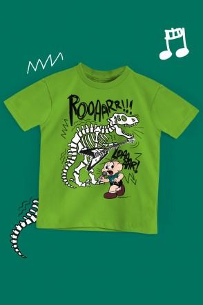Camiseta Infantil Turma da Mônica Cebolinha Roar