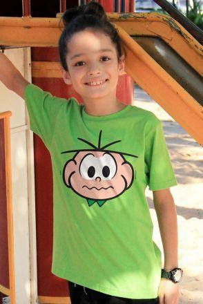 Camiseta Infantil Turma Da Mônica Face Cebolinha