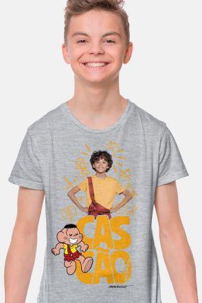 Camiseta Infantil Turma da Mônica Laços Cascão Sempre Cascão