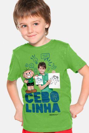 Camiseta Infantil Turma da Mônica Laços Cebolinha Zoeira Never Ends