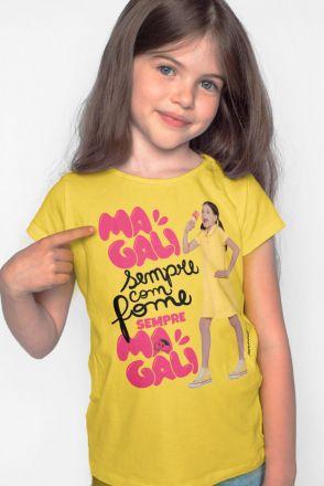 Camiseta Infantil Turma da Mônica Laços Magali Sempre com Fome