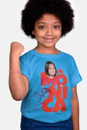 Camiseta Infantil Turma da Mônica Laços Mônica