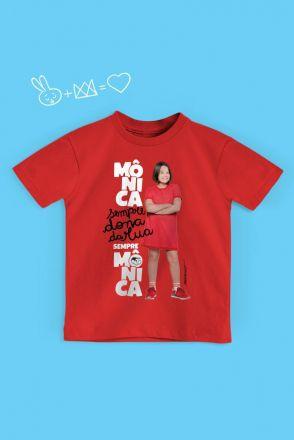 Camiseta Infantil Turma da Mônica Laços Sempre Dona da Rua