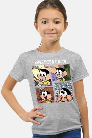 Camiseta Infantil Turma da Mônica Magali Esperando o Almoço