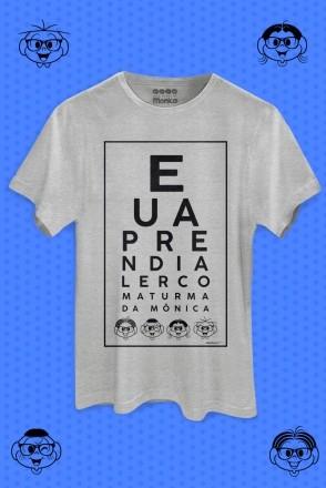 Camiseta Masculina Eu Aprendi a Ler Com a Turma da Mônica