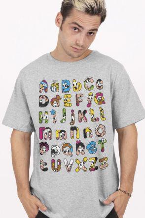 Camiseta Masculina Turma da Mônica Abecedário Divertido