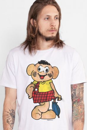 Camiseta Masculina Turma da Mônica Cascão Muro
