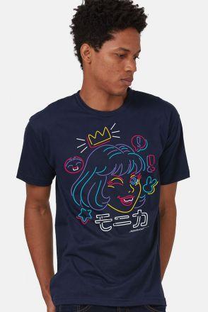 Camiseta Masculina Turma da Mônica Jovem Face Colors