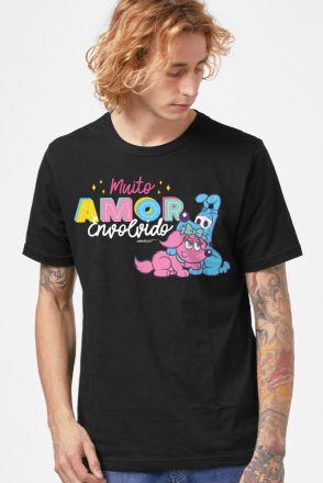 Camiseta Masculina Turma da Mônica Muito Amor