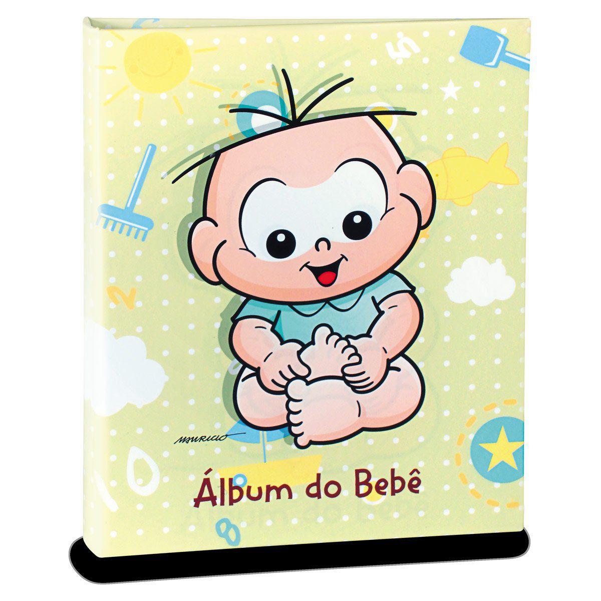 Álbum de Fotos Turma da Mônica Baby - Cebolinha 120fts