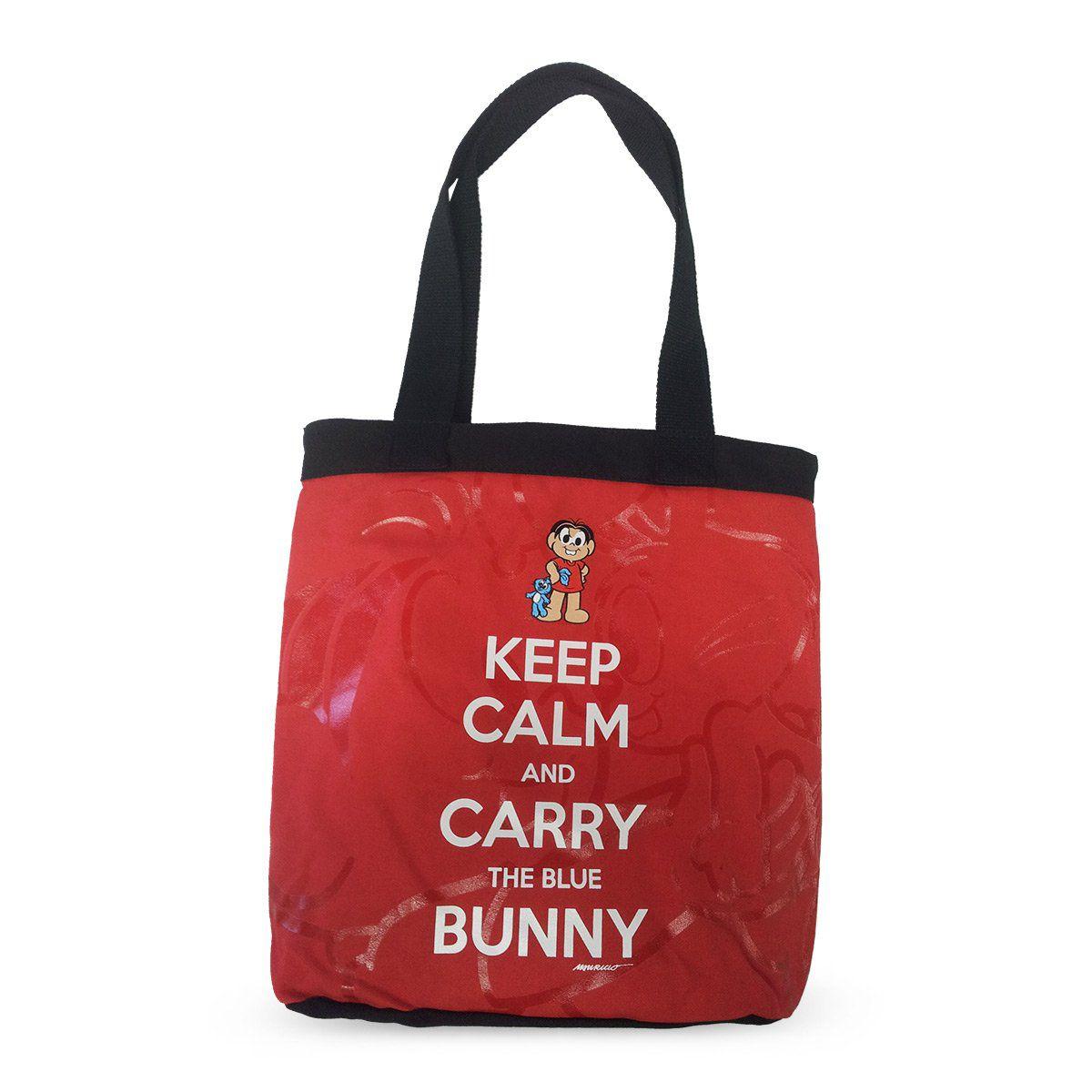 Bolsa Turma da Mônica Keep Calm And Carry The Blue Bunny