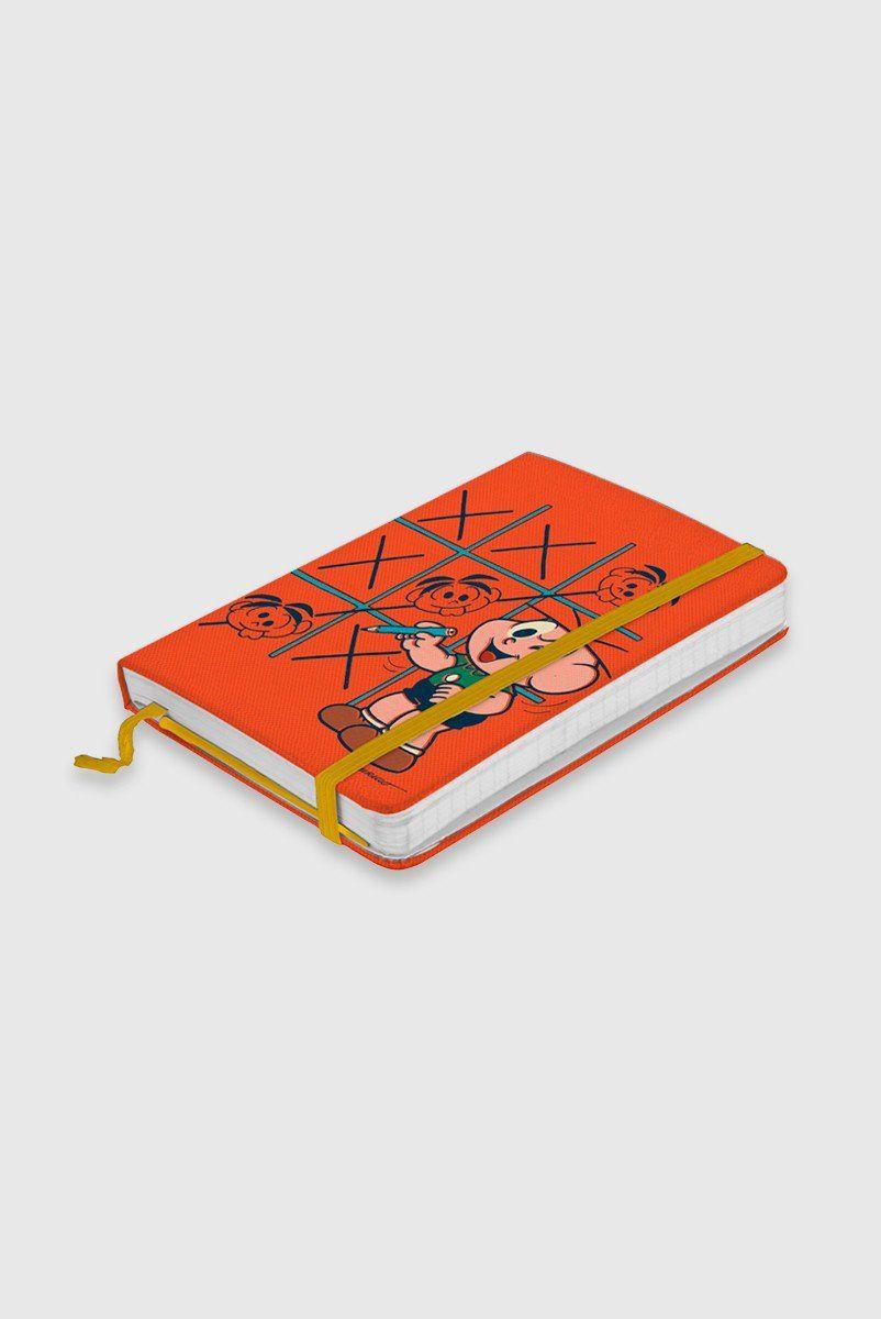Caderneta de Anotações Turma da Mônica Cebolinha Tic Tac Toe
