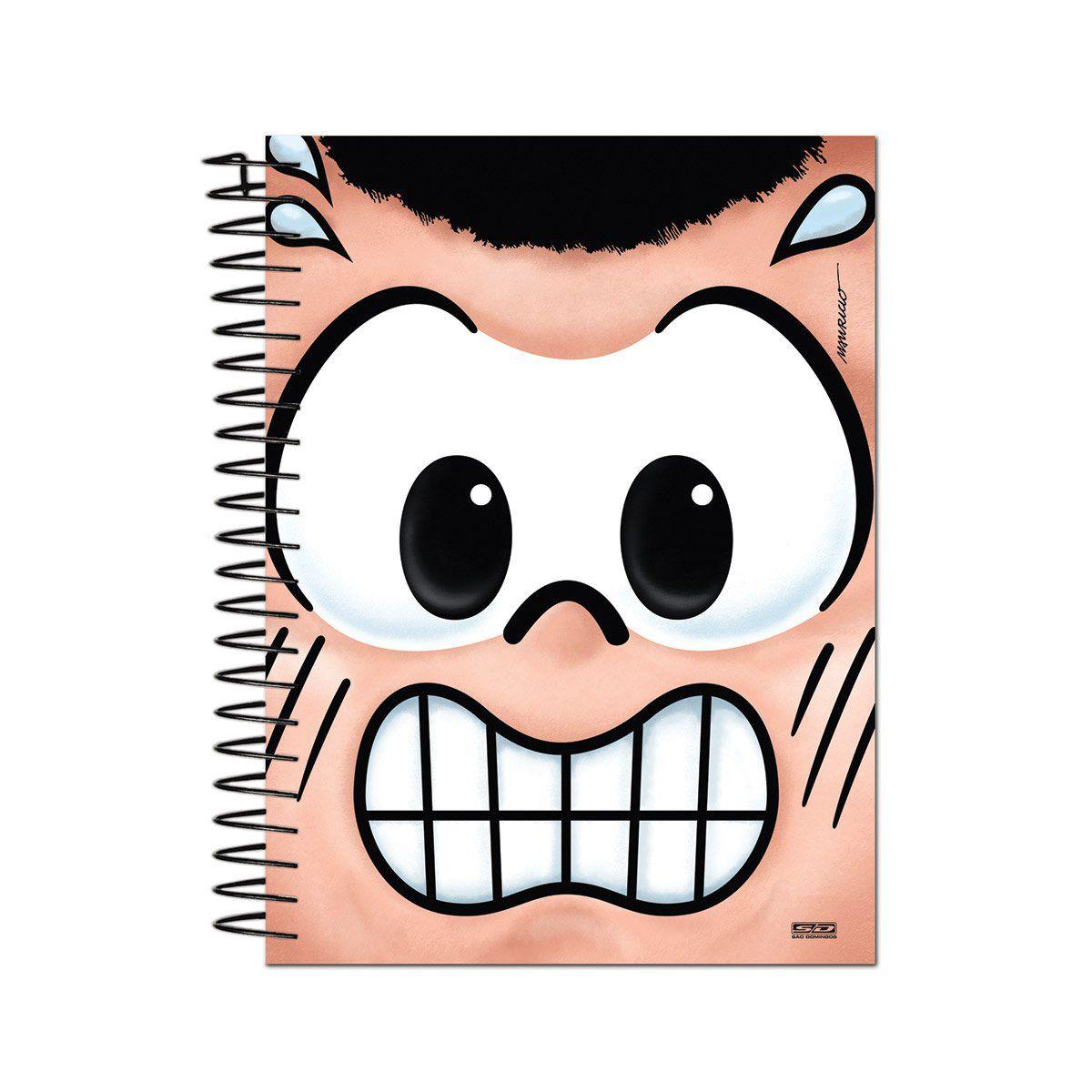 Caderno Turma da Mônica Big Face Cascão 1 Matéria