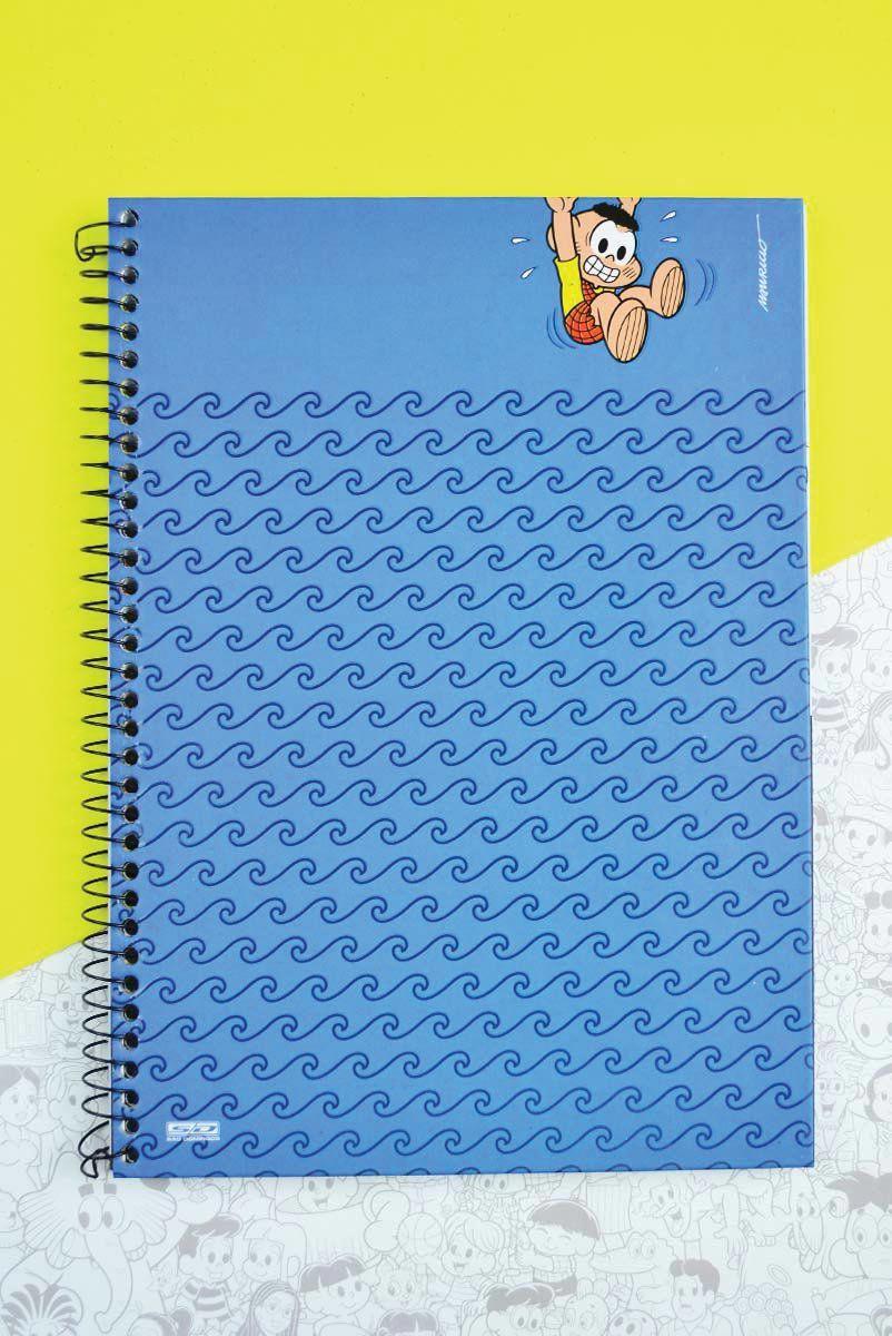 Caderno Turma da Mônica Cascão Banho Não! 1 Matéria