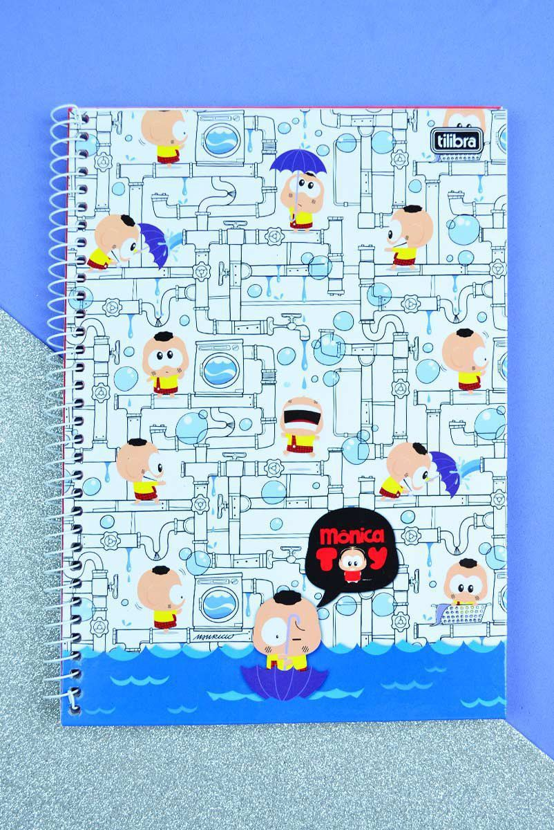 Caderno Turma da Mônica Cascão Encanamento 1 Matéria
