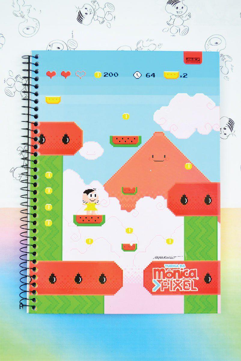 Caderno Turma da Mônica Pixel Magali 1 Matéria