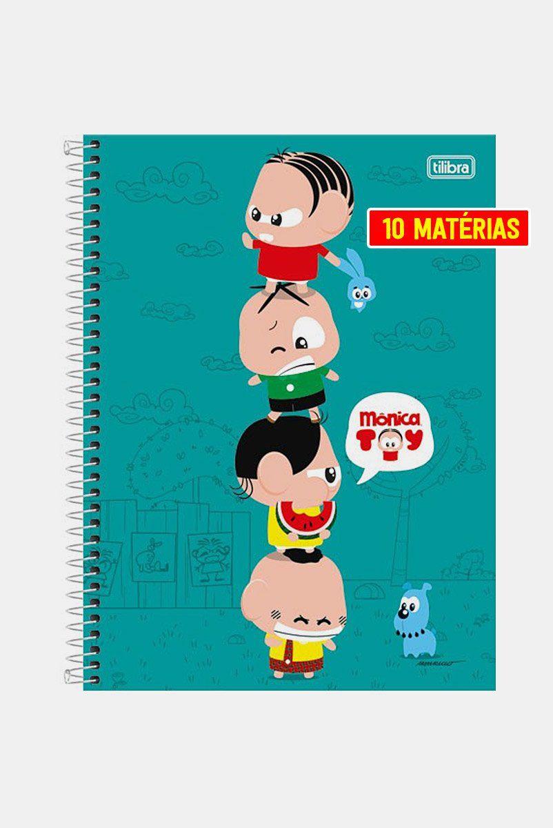 Caderno Turma da Mônica Torre Toy 10 Matérias