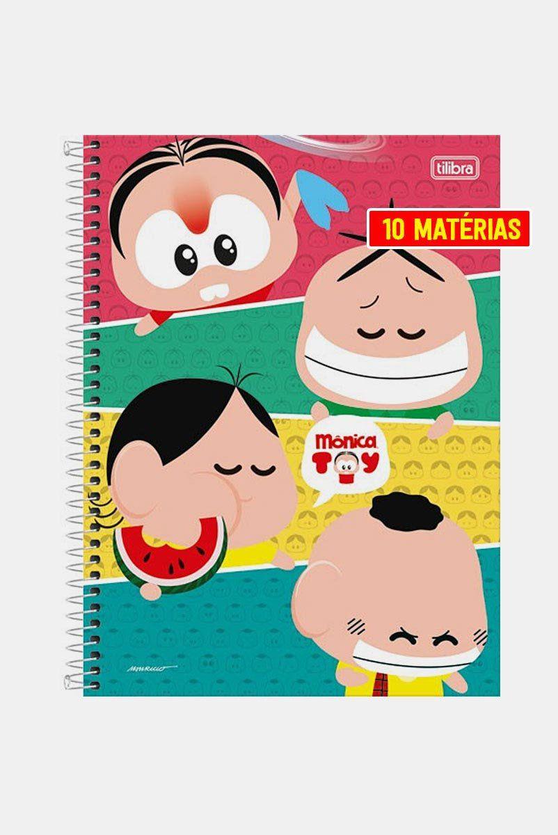 Caderno Turma da Mônica Toy Faces 10 Matérias