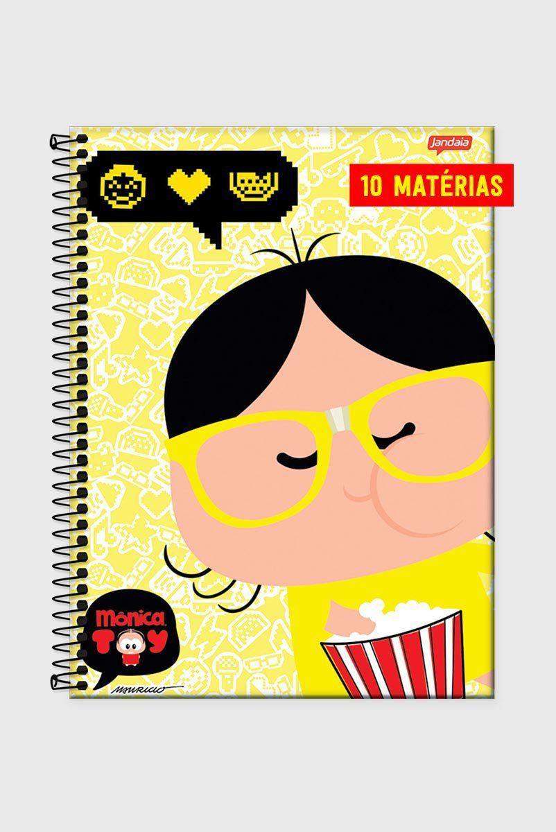 Caderno Turma da Mônica Toy Magali Nerd 10 Matérias