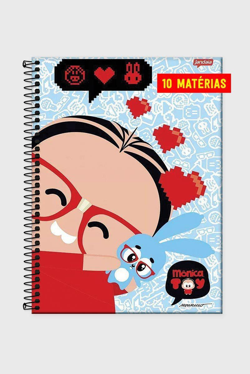 Caderno Turma da Mônica Toy Mônica Nerd 10 Matérias