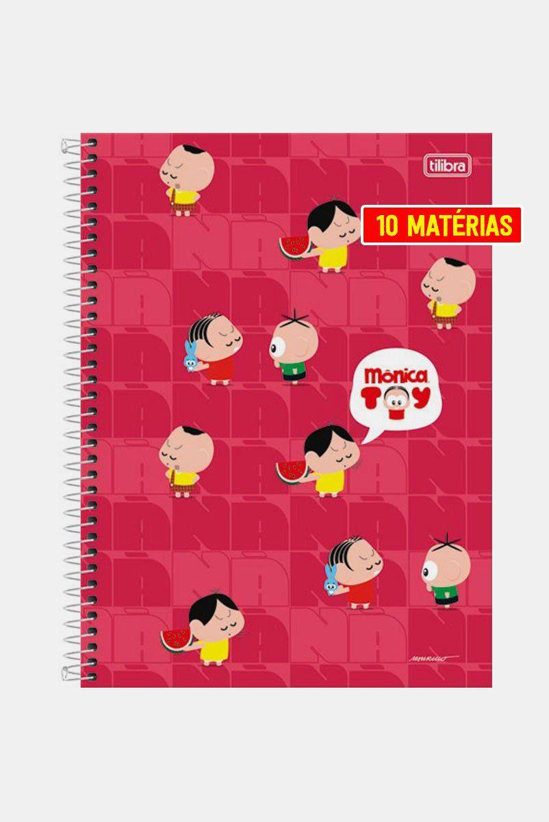 Caderno Turma da Mônica Turminha Toy 10 Matérias