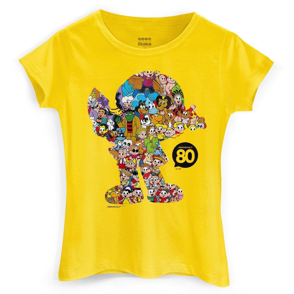 Camiseta Feminina Maurício de Sousa 80 Anos Magali