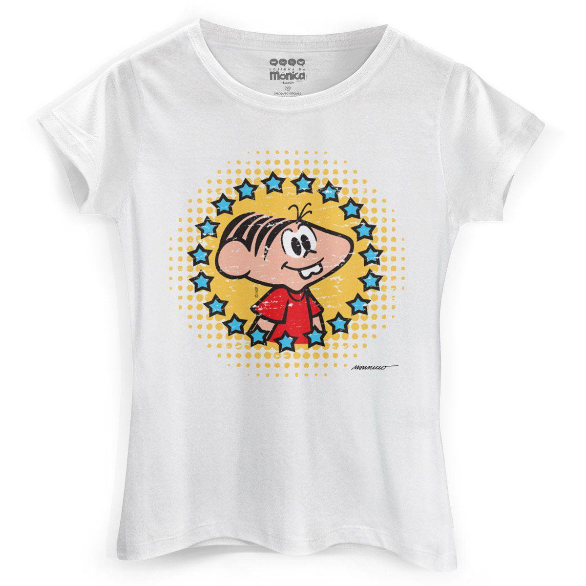 Camiseta Feminina Turma da Mônica 50 Anos Evolução Modelo 5