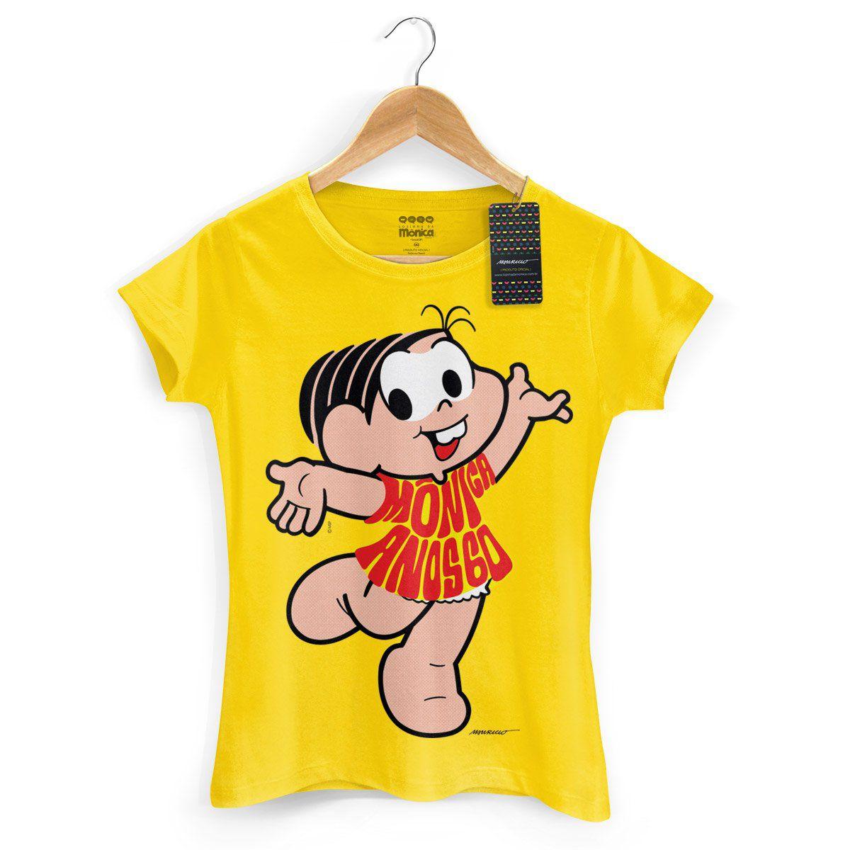 Camiseta Feminina Turma da Mônica 50 Anos Modelo 5 Anos 60