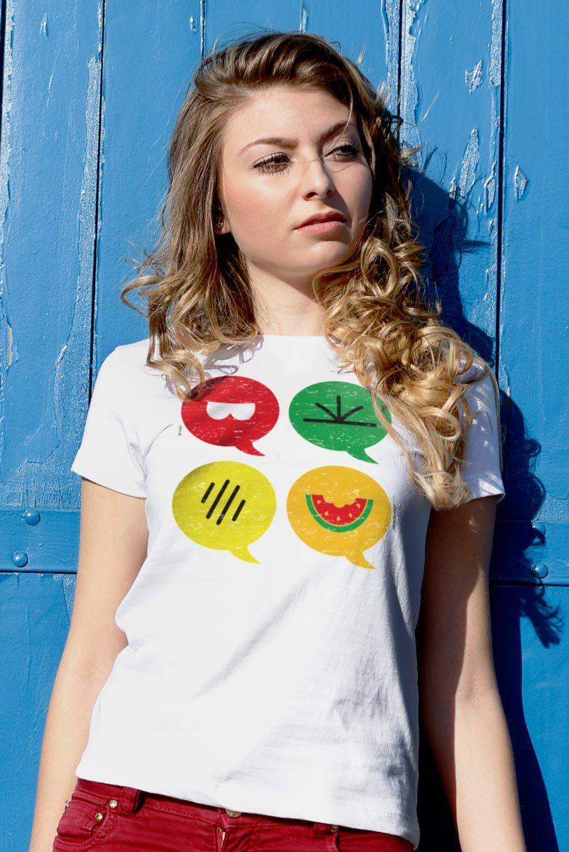 Camiseta Feminina Turma da Mônica Ícones