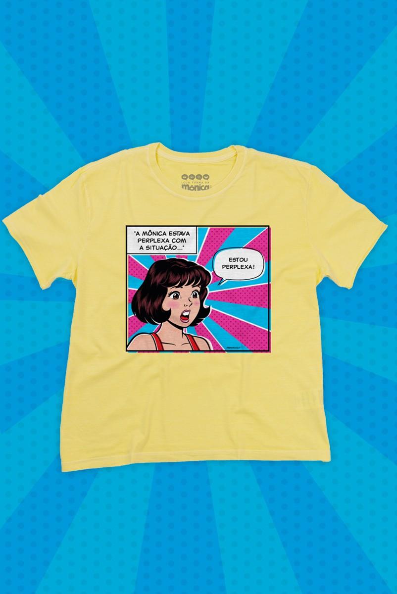 Camiseta Feminina Turma da Mônica Jovem Estou Perplexa