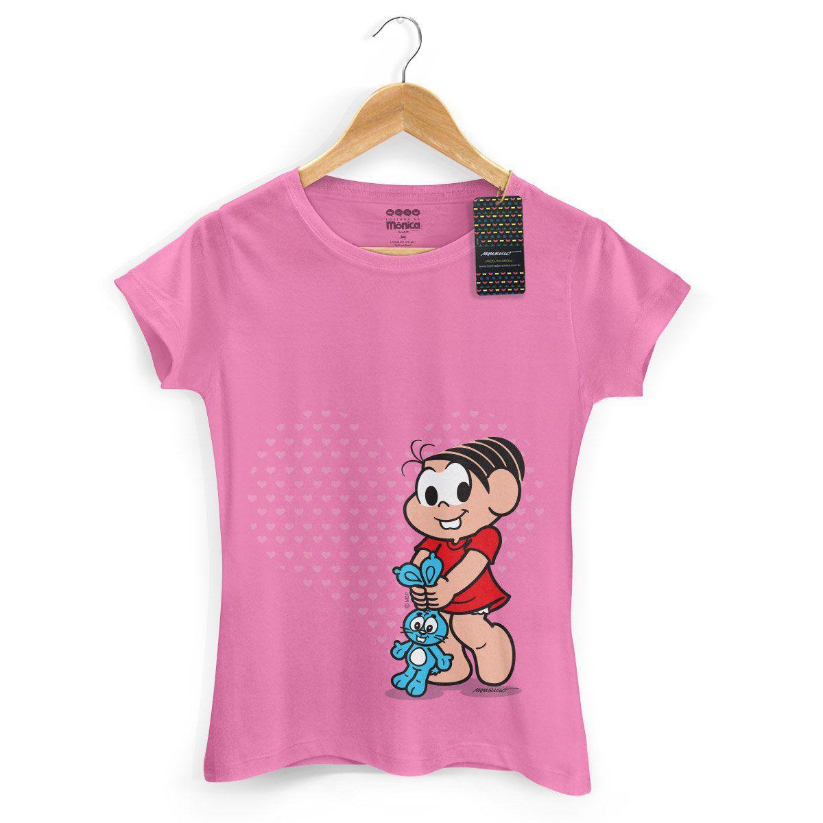 Camiseta Feminina Turma da Mônica Kids Mônica Heart
