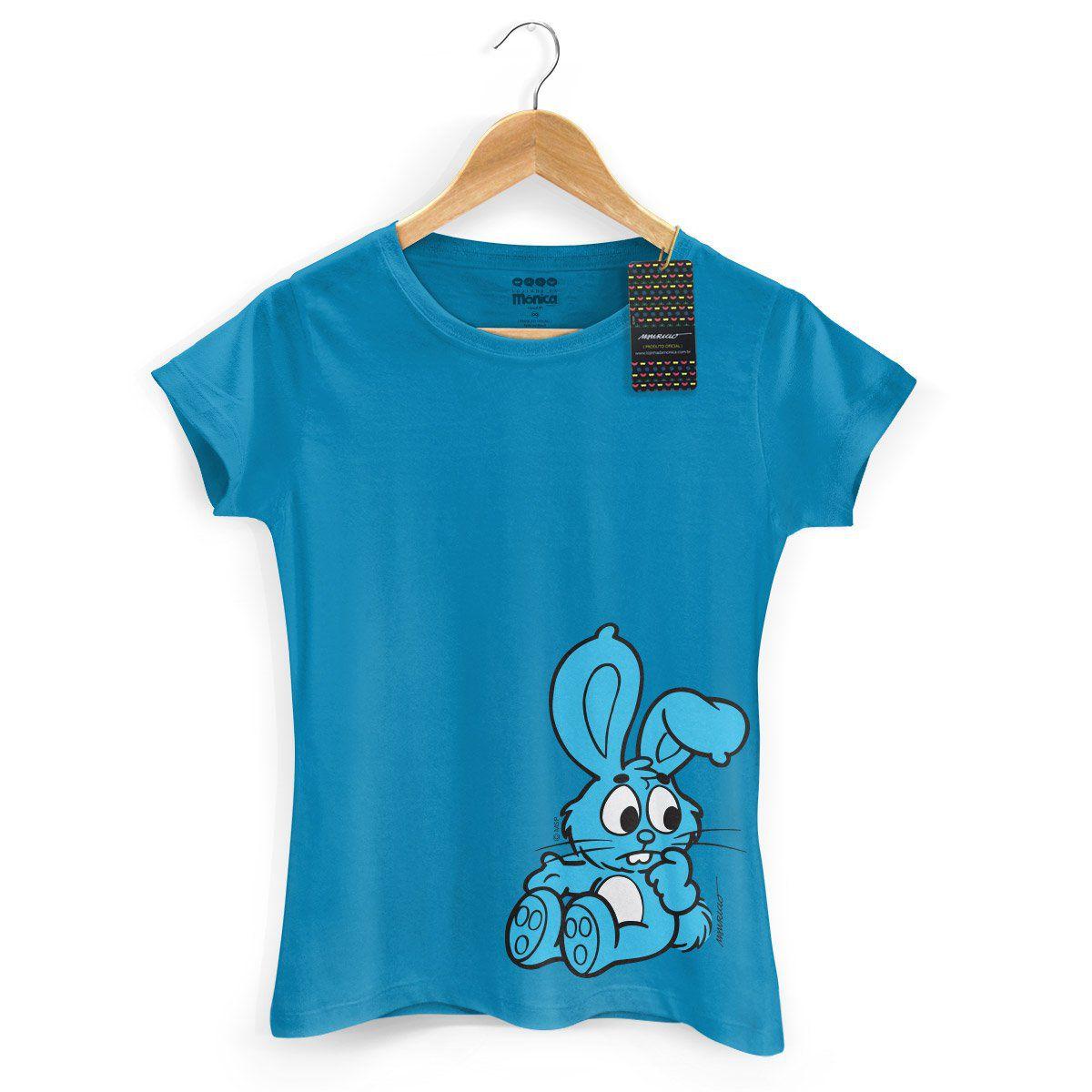 Camiseta Feminina Turma Da Mônica Kids Sansão Azul