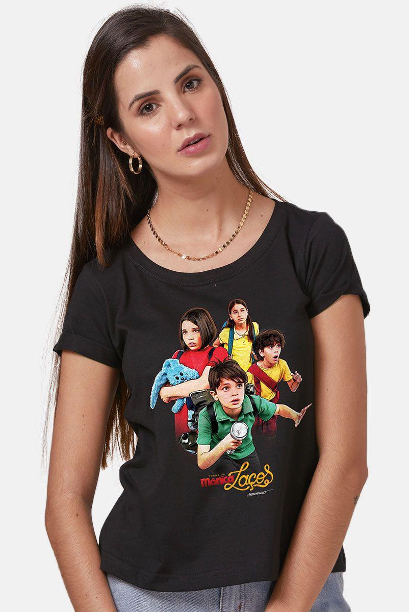 Camiseta Feminina Turma da Mônica Laços