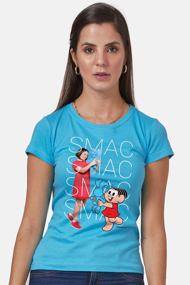Camiseta Feminina Turma da Mônica Laços Mônica SMAC