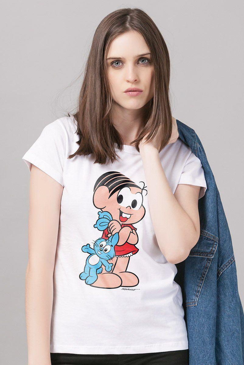 Camiseta Feminina Turma da Mônica Mônica Clássica
