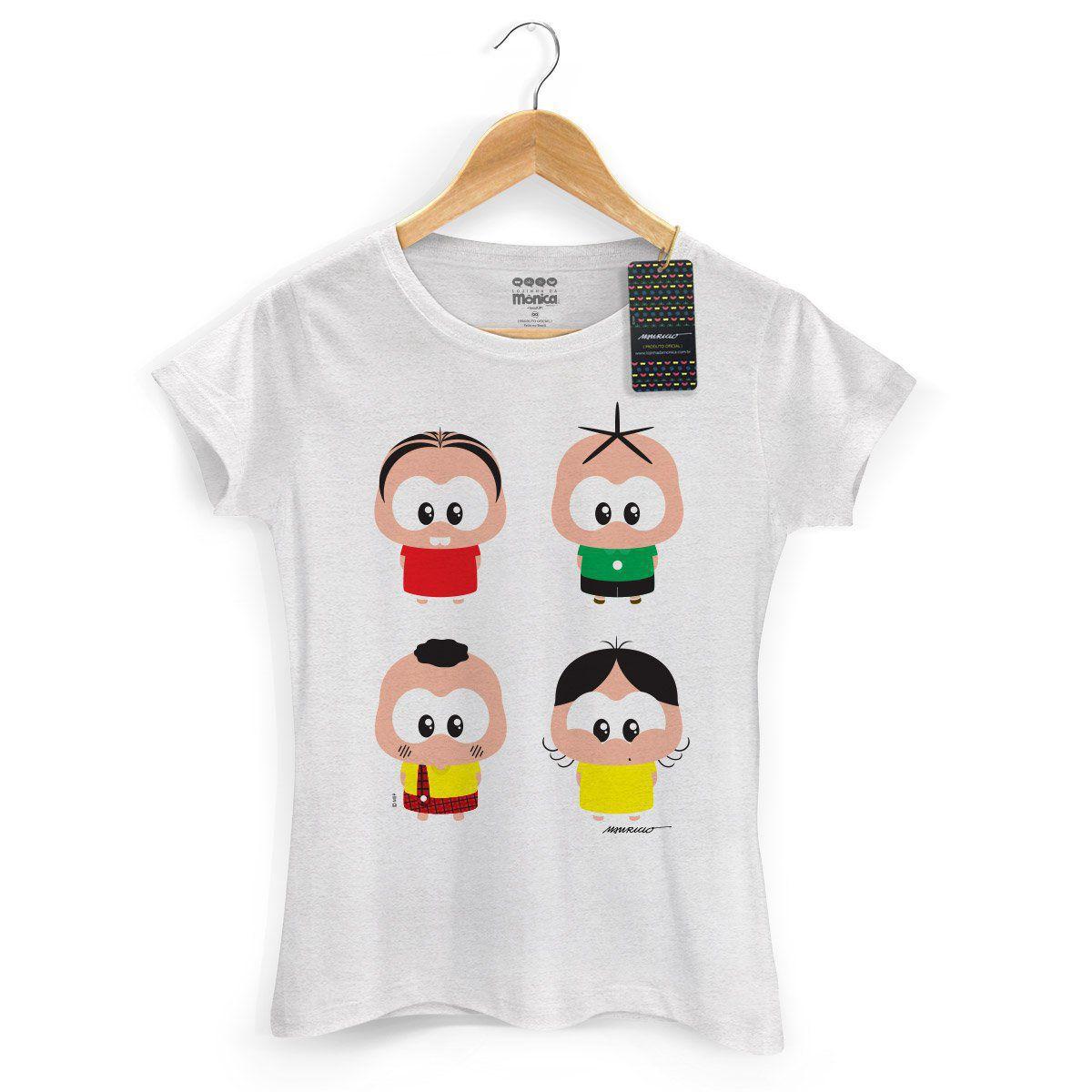 NÃO USAR Camiseta Feminina Turma da Mônica Toy A Turma Toy
