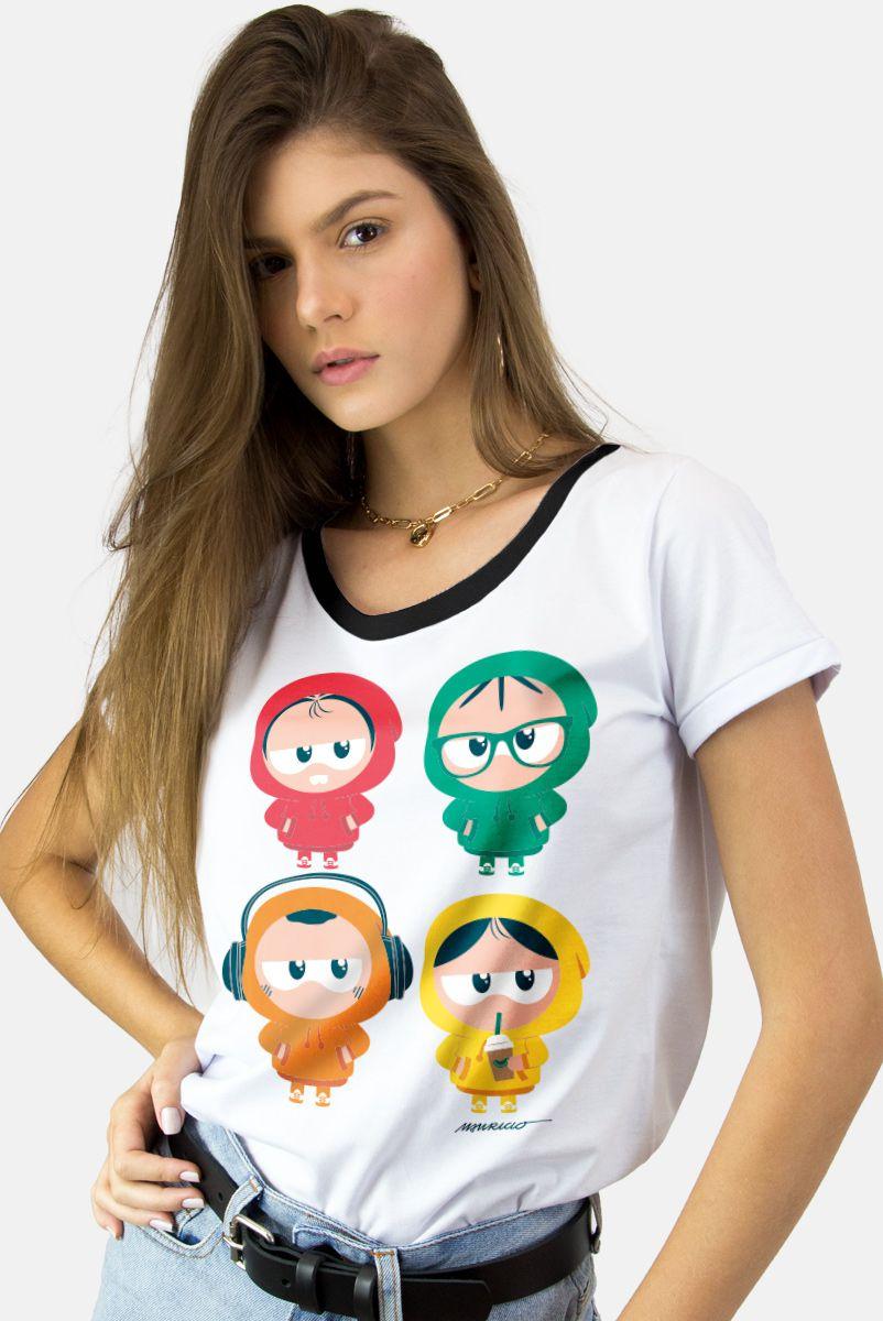 Camiseta Feminina Turma da Mônica Toy de Moletom