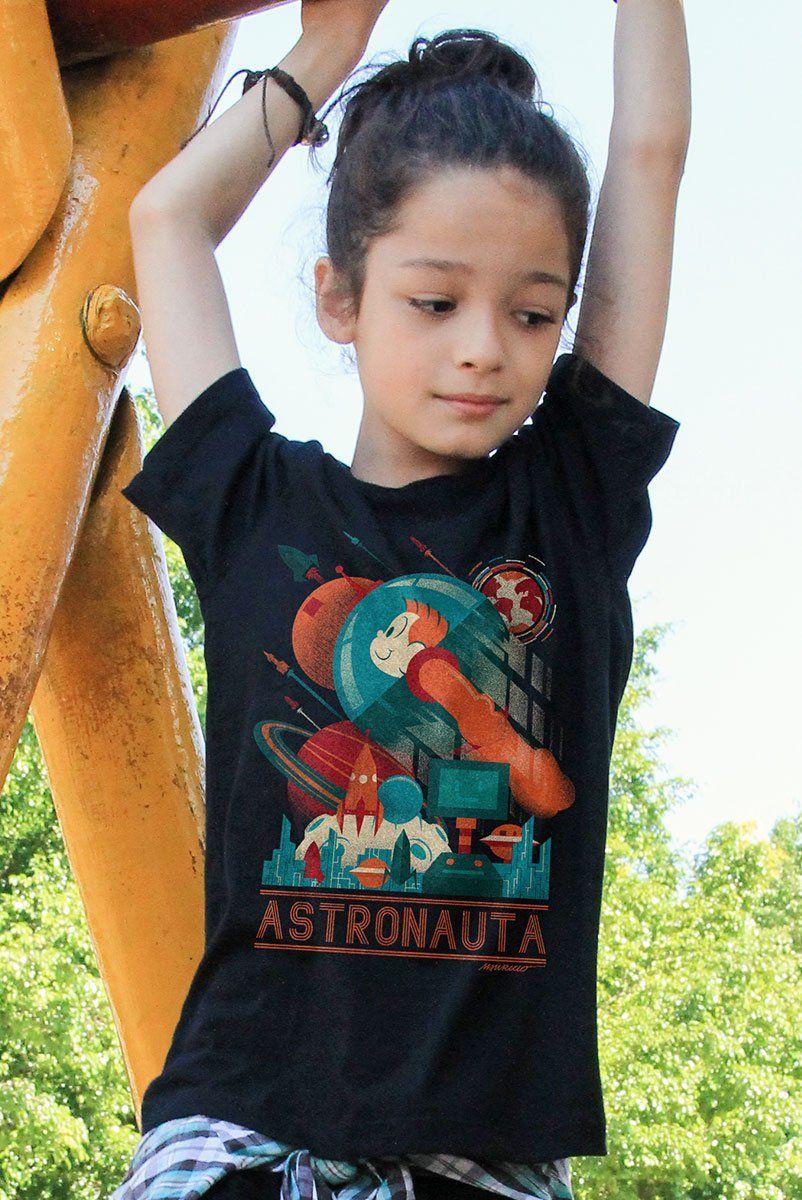 Camiseta Infantil Turma da Mônica Astronauta