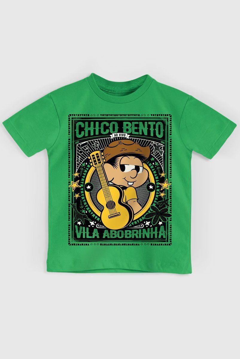 Camiseta Infantil Chico Bento Vila Abobrinha