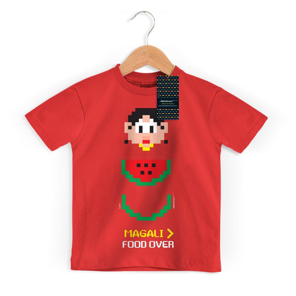 Camiseta Infantil Magali 50 Anos Food Over